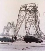 electric towers collapsed Image