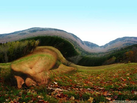Sleep in ground 2 optical illusions image
