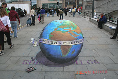 Make Poverty History Optical Illusion