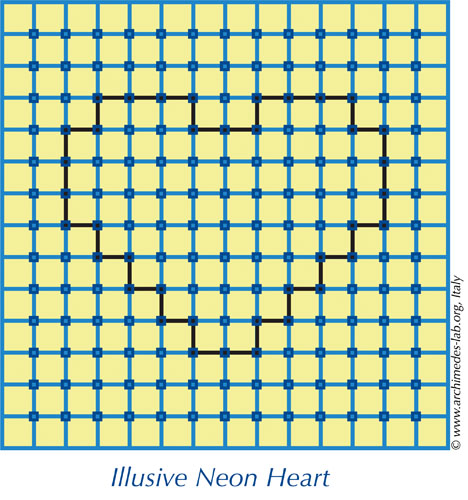 neon heart Optical Illusion