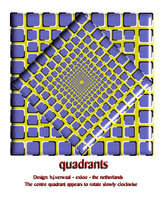 quadrants rotation Optical Illusion