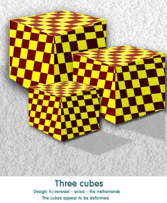Three Cubes Optical Illusion